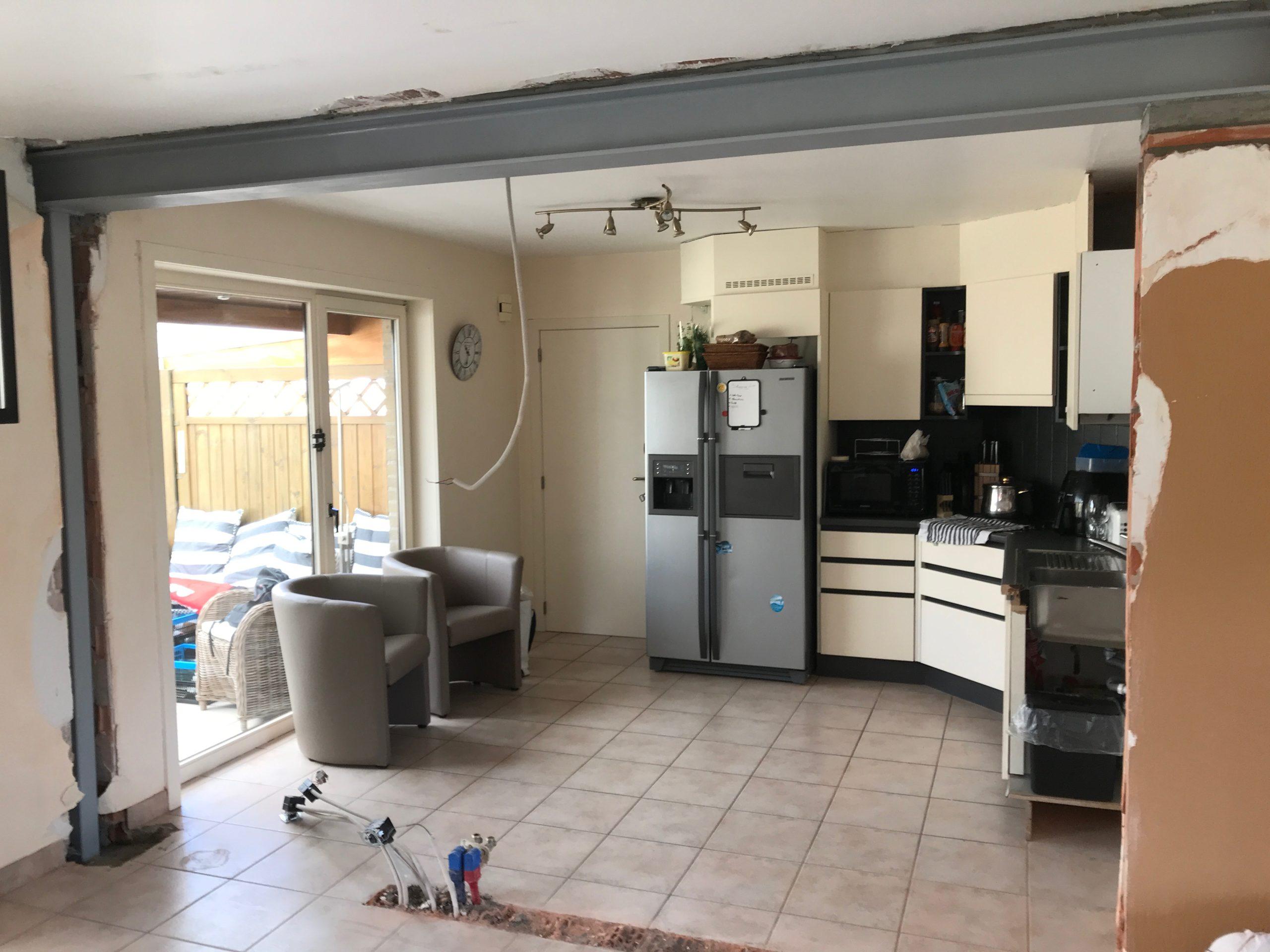 Keuken living open maken